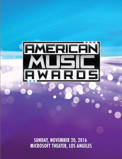 American Music Awards 2016 Program Book