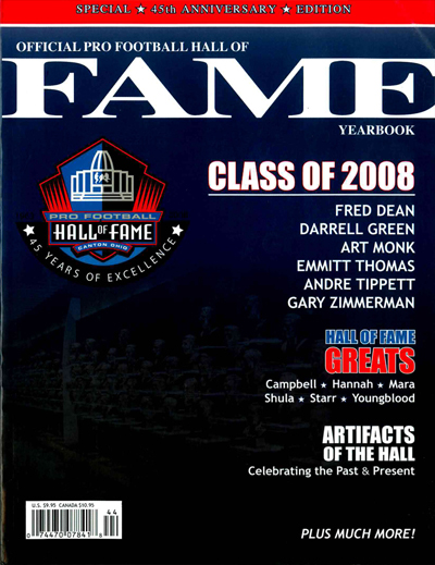 Pro Football Hall of Fame 2008 Yearbook